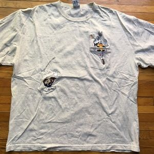 Vintage 90s Embroidered Looney Tunes Tee XL